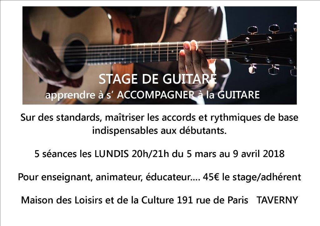 stage de guitare mars 2018