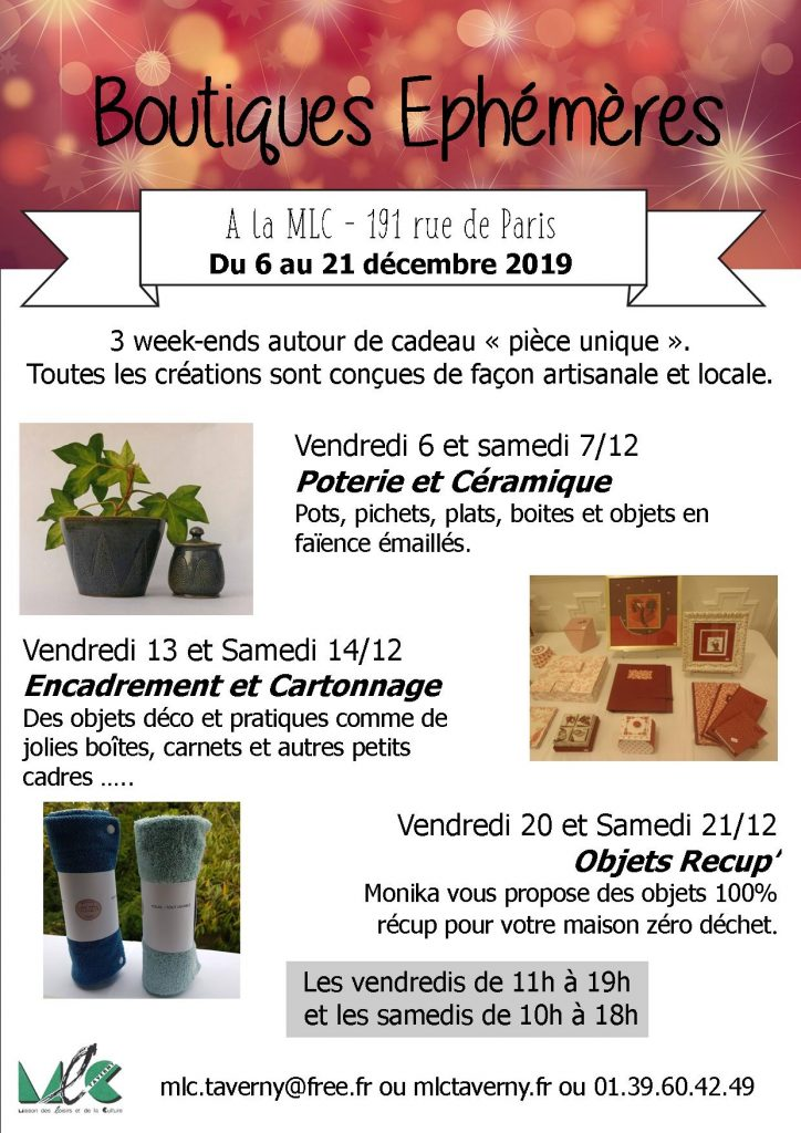boutiques éphémèresNoël19
